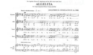 Alejandro Consolacion, Alleluia m. 1-4