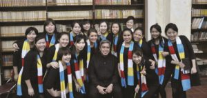 Asia Pacific Youth Choir female section with Jonathan Velasco