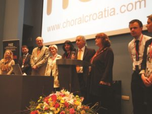 Branko Starc and the staff of 'Ars Choralis 2012'