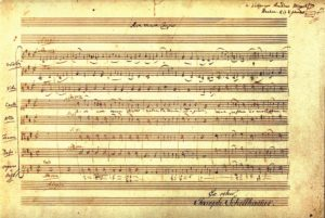 Mozart's autograph of the 'Ave Verum Corpus'