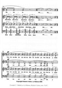 Example 2: Babalú en La Habana, Roberto Valera, mm.74-87.