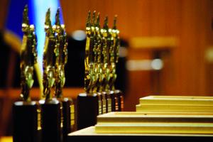 Golden Lyre Statuettes