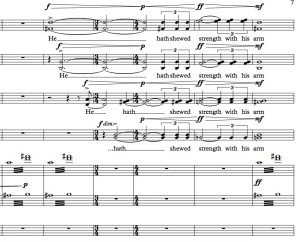 Repertoire_Example 9, First Service (Magnificat), m. 66-71.