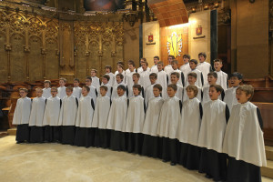 The 'Escolania de Montserrat' singing in the Montserrat Monastery Church