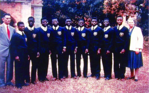 Male Choir from Kimpese invited at the 1st World Expo in Brussels in 1958