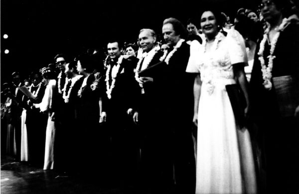 Veneracion with Imants Kokars, Gyorgy Gulays and Jan Szyrocki at the first Manila International Choral Festival in 1979