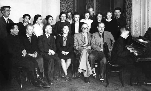 Teachers of Choral School. (In the centre: Alexander Sveshnikov)