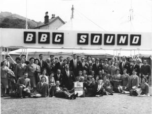 July 1960 - The Chorus Melitensis in LLangollen, Wales after singing for the BBC