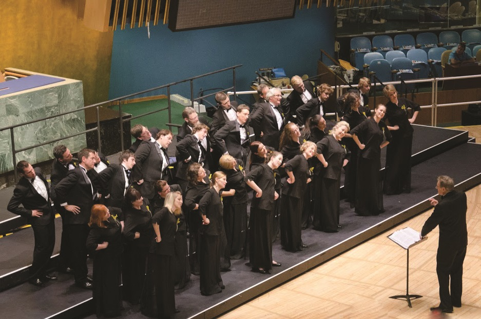 "Sat, 30 June 2012 Rhythms of One World Festival Closing Concert at the UN: ""Koala Colours"" by the University of Newcastle Chamber Choir from Australia, directed by Dr. Philip Matthias ©Dmitry Popov, UN Staff"
