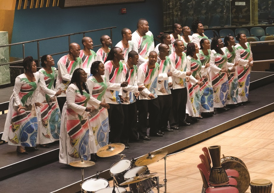 "Sat, 30 June 2012 Rhythms of One World Festival Closing Concert at the UN: ""A Taste of the Caribbean Vibe"" by the Signal Hill Alumni Choir from the Republic of Trinidad & Tobago, directed by John Arnold ©Dmitry Popov, UN Staff"