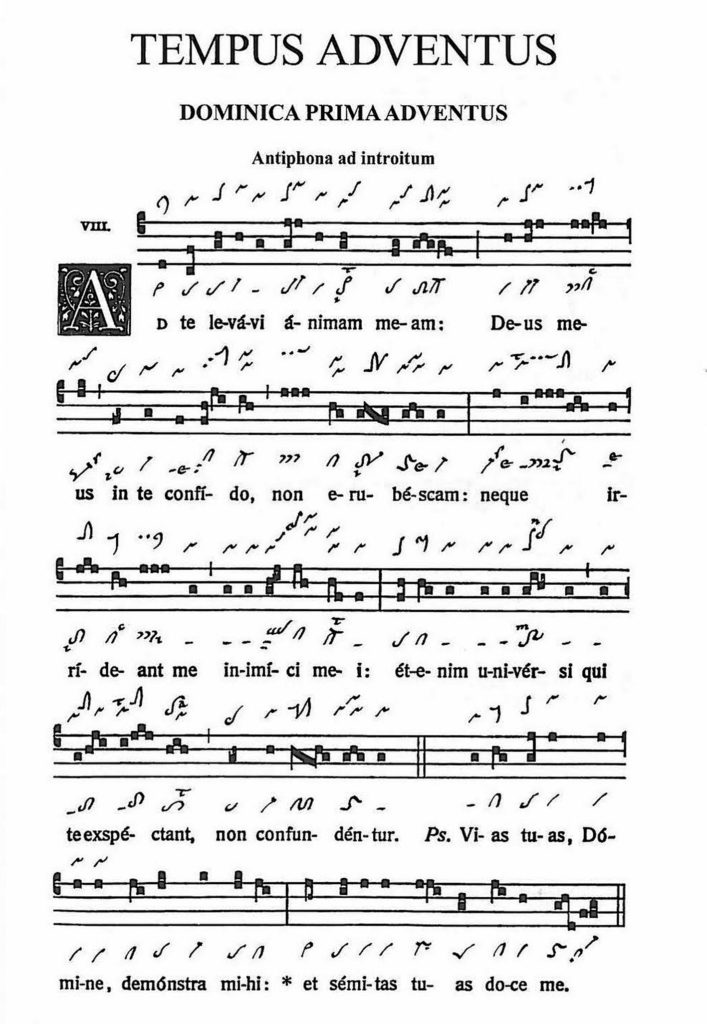 First Sunday of Advent Introit 'Ad te levavi' in the Graduale Novum