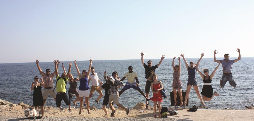 WYC group having fun at Paphos - ( Richard Dayany Martinez, Venezuela © FWYC)