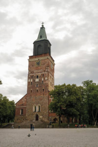 The old Cathedral downtown Turku
