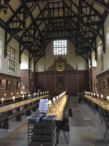 The Trinity College refectory