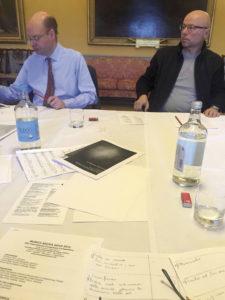 Stephen Layton and Vaclovas Augustinas, members of the jury