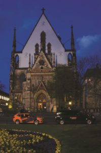 The famous Thomaskirche in twilight mood