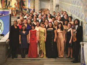 40 singers of the World Youth Choir at the Nobel Peace Prize Award, Oslo City Hall - Rooz Photo © Foundation World Youth Choir