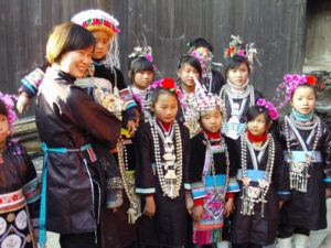 Li Xi and The  Dong Young Children's choir, during Chinese's New Year 2008
