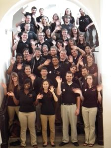 University of Louisville Cardinal Singers on a day trip to the Lautrach Castle