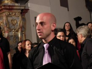 In rehearsal mood – a member of Jerusalem Academy Chamber Choir