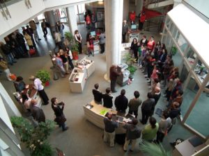 Jerusalem Academy Chamber Choir performing in the local bank – the Sparkasse Marktoberdorf