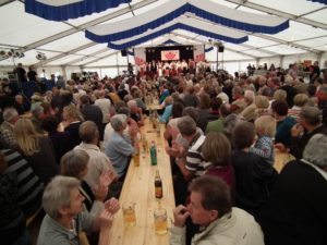 Female Choir of Estonian Choral Conductors in the beer tent on Whit Monday