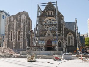 Cathedral west end bracing