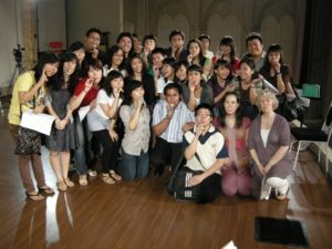 Workshop on vocal using kazoo with an international vocal coach from LondonO