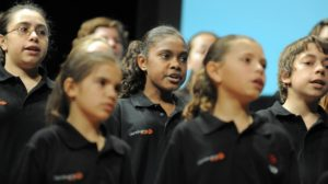Gondwana National Indegenous Children's Choir at Sydney Opera House Open Day
