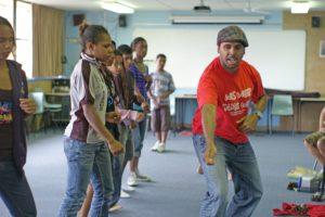 Gondwana National Indigenous Children's Choir working with Sani Townson
