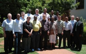 Representatives of the Norwegian Choir Association and the IFCM at a meeting in South Africa to lay the foundations for the forming of the national choir organisation, Chorisa.[1]