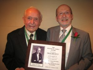 Philip Brunelle receives award