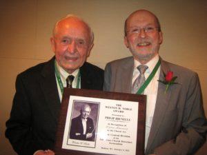 Philip Brunelle receives award