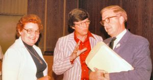 Kirk, Saltzman and Collins at first leadership conference in 1979