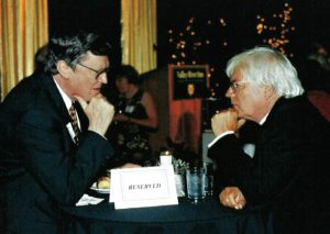 Royce Saltzman and Helmuth Rilling at the Oregon Bach Festival in 2004