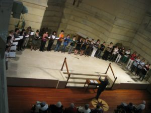 Conducting a concert in the Church of Zorroaga Donostia