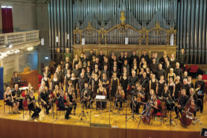 The 'Choir Academy' in the 'Sala Accademica del Conservatorio di Santa Cecilia'