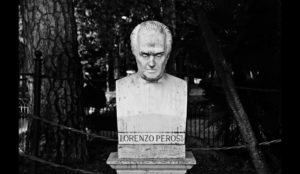 A bust of Lorenzo Perosi in the park of the Pincio in Rome