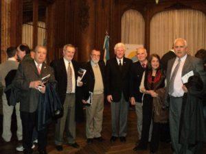 From left to right: Ricardo Denegri, Jorge Villamarín, Daniel Garavano, Michael J. Anderson , Bernardo Moroder, Graciela Pedro, Horacio Alfaro