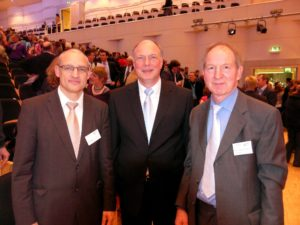 German Choral Competition team. From left to right: Helmuth Schubach, Martin Maria Krüger, Jürgen Budday - Photo: Walter Vorwerk