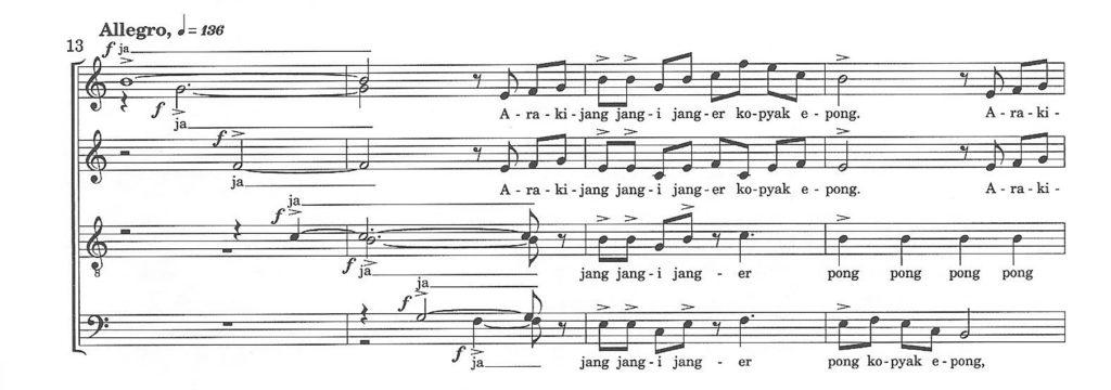 Ex.1 - Budi Susanto: Janger, m. 13-16