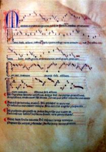 "Maria Matrem hymn from the ""Llibre Vermell de Montserrat""(Red Book of Montserrat)"