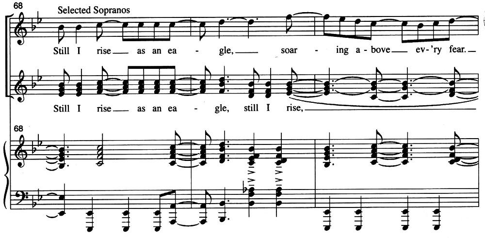 Ex. 3 – Rosephanye Powell, Still I Rise, m.68-70